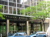 English: New York City - Pfizer World Headquarters Deutsch: New York City - Pfizer World Headquarter