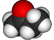 Space-filling model of butanone