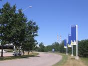 Michelin tyre plant in Waterville, Nova Scotia