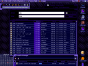 Kaleidoscope theme utility using Albie Wong's ElectricMonk scheme, running on Mac OS 9 in 2001