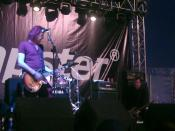 The Saints performing at the Download Festival (on the smaller