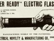Ever Ready Flashlight Ad 1899