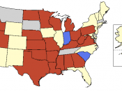 Mandatory pre-abortion waiting period laws in the United States of America. Mainland U.S. edited from a 600px map by Jared Benedict at Libre Map Project and non-continental states from http://www.uscourts.gov/images/CircuitMapoutlined.eps by the United St