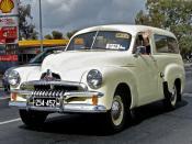 English: 1953–1957 Holden FJ panel van, photographed in South Australia, Australia.