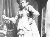 Charlotte Wolter, actress; Seen as Elisabeth in Maria Stuart of Friedrich Schiller