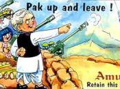 An Amul butter ad on Pakistan's Kargil War fiasco. The image shows the