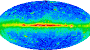 English: High-energy gamma radiation of the Earth, taken from Energetic Gamma Ray Experiment Telescope on the NASA's Compton Gamma Ray Observatory satellite. Obtained from http://www-glast.stanford.edu/images/glast_allsky1-a.GIF.