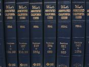 Volumes of the Thomson West annotated version of the California Penal Code, the codification of criminal law in the state of California