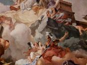 Apotheosis of Spain in Royal Palace of Madrid.