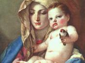 Giovanni Battista Tiepolo - Madonna of the Goldfinch - WGA22360