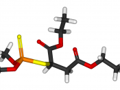 3D representation of malathion