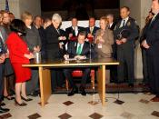 Sandy Hook Workers Assistance Fund bill signing ceremony