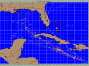 Graphic showing spread in guidance, and failure of the guidance to pick up on Ernesto's more northerly course
