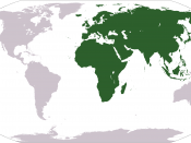 Africa, Europe, Asia and Oceania are 93 million km 2 together.
