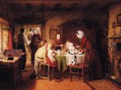 English: Frederick Daniel Hardy - The First Birthday Party Oil painting on canvas
