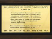 25th Anniversary of High Definition Television in Europe