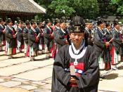 Descendents of the Jeonju Lee family perform rites to honor their ancestors in an annual ceremony the Korean government has declared an