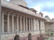 The Rashtrapati Bhawan which is the residence of the President Of India.