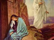 English: Jesus resurrected and Mary Magdalene