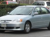 2003 Honda Civic Hybrid photographed in College Park, Maryland, USA. Category:Honda Civic Hybrid (2002)