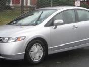 2006-2008 Honda Civic Hybrid photographed in College Park, Maryland, USA.