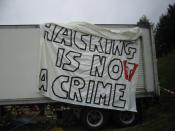 English: Chaos Communication Camp, Finowfurt 2007: Hacking is not a crime