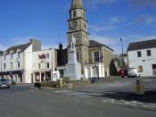 English: The Square, Selkirk, Scottish Borders The statue of Sir Walter Scott, the father of the novel. Sir Walter, a legal counsel, was the Sheriff of Selkirkshire for many years. The Sheriff Court is in the background.
