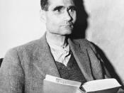 Defendant Rudolf Hess reads