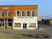 The abandoned corner grocery in downtown Parkton.