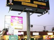 Guerrilla Girls billboard in Los Angeles protesting white male dominance at the Oscars in 2009.
