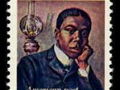 English: US postage stamp of 1975 (thus PD) depicting Paul Laurence Dunbar