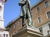 Statue of Alessandro Manzoni in Milan.