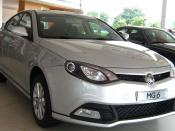 English: 2010 MG 6 in a showroom in China