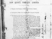 Memorandum of Association of the New Russia Company Ltd., 1869.