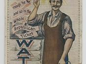 Republican Party Election Day Watcher Ribbon, 1904