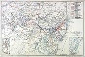English: 1899 map of the Pennsylvania Railroad