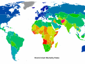 World infant mortality rates in 2008. source data