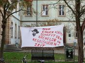 English: Student protest on the premises of the University of Bamberg: (German)