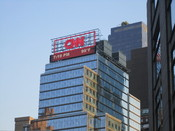 English: I took photo of CNN building in New York City with Canon camera.