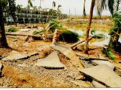 Damage in Hawaii from Hurricane Iniki