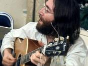 English: John Lennon rehearses Give Peace A Chance by Roy Kerwood.