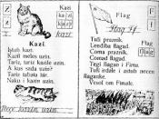 English: Reading book (school book for children to learn read) in Veps language. Русский: Букварь на вепсском языке.