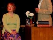 Lauren Bloom as Miss Brodie and Jo Rake as Miss Mackay in the Tantallon Community Players production of The Prime of Miss Jean Brodie.