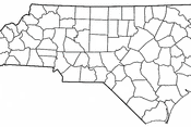 Adapted from Wikipedia's NC county maps by Seth Ilys.