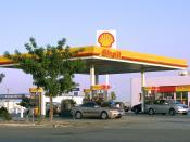 A Shell gas station near Lost Hills, California, USA