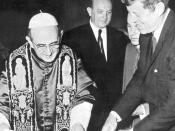 President John F.Kennedy visits Pope Paul VI