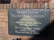 Manor House, Solihull - Manor House Tea Room & Garden - sign
