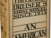 Book cover for Theodore Dreiser's An American Tragedy