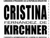 Español: Boleta electoral para la fórmula Cristina Fernández-Julio Cobos, perteneciente a las elecciones presidenciales de Argentina de 2007