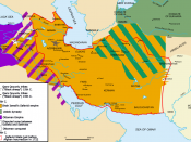 The Safavid Empire and its zones of conflict.